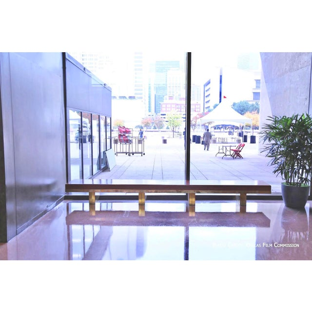 Architectural Bench From the Iconic i.m. Pei Dallas City Hall For Sale - Image 12 of 13