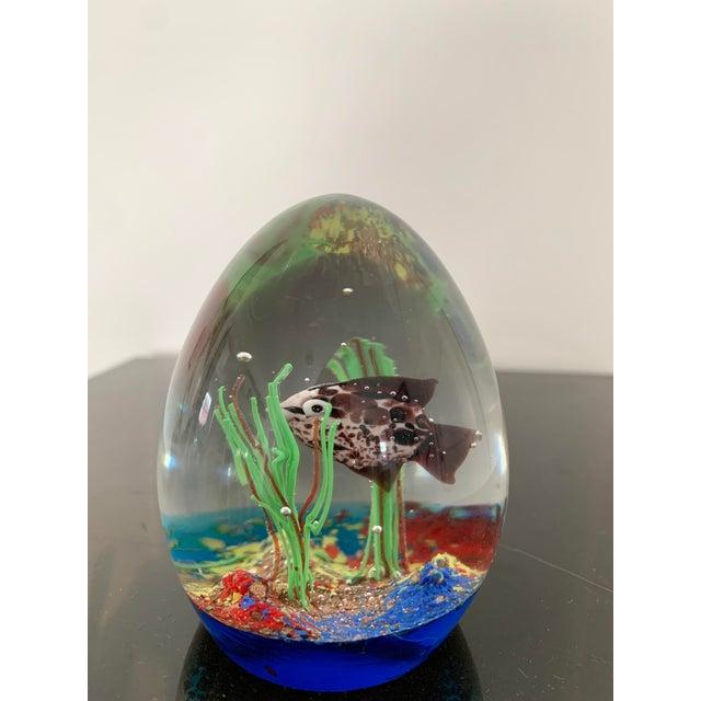 Murano Mid 20th Century Murano Italy Glass Aquarium Paper Weight For Sale - Image 4 of 9