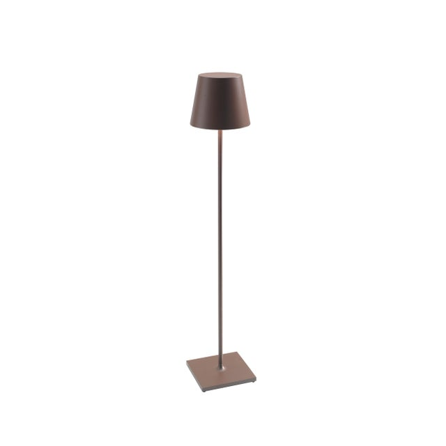 Modern Zafferano Rust 10W LED Dimmable Rechargeable Indoor/Outdoor Cordless Floor Lamp For Sale - Image 3 of 3