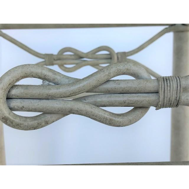 1980s Vintage Dickinson Style Knotted Metal Pedestal For Sale - Image 5 of 9