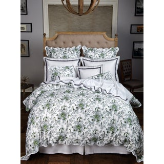 Mandarin Delights Duvet Cover Gray in Full For Sale