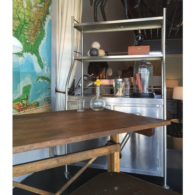 Vintage Stainless Steel Shelving Unit - Image 3 of 4