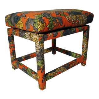 Milo Baughman Style Parsons Ottoman/Bench/Footstool