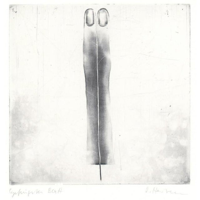 1970s Abstract Black and White Etching For Sale
