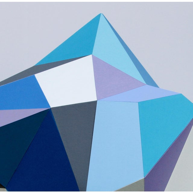 Paper 21st Century Blue Diamond Sculpture by Sassoon Kosian For Sale - Image 7 of 8