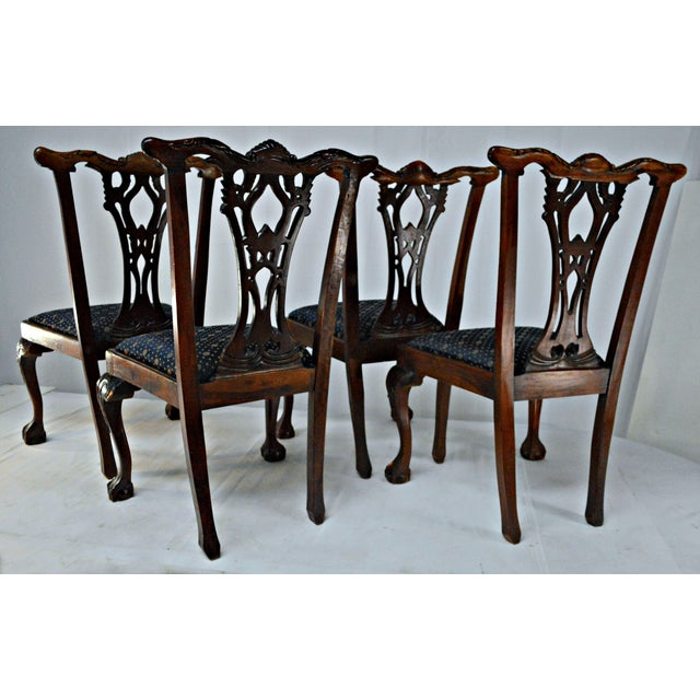Chippendale Mahogany Dining Chairs - Set of 4 - Image 5 of 9
