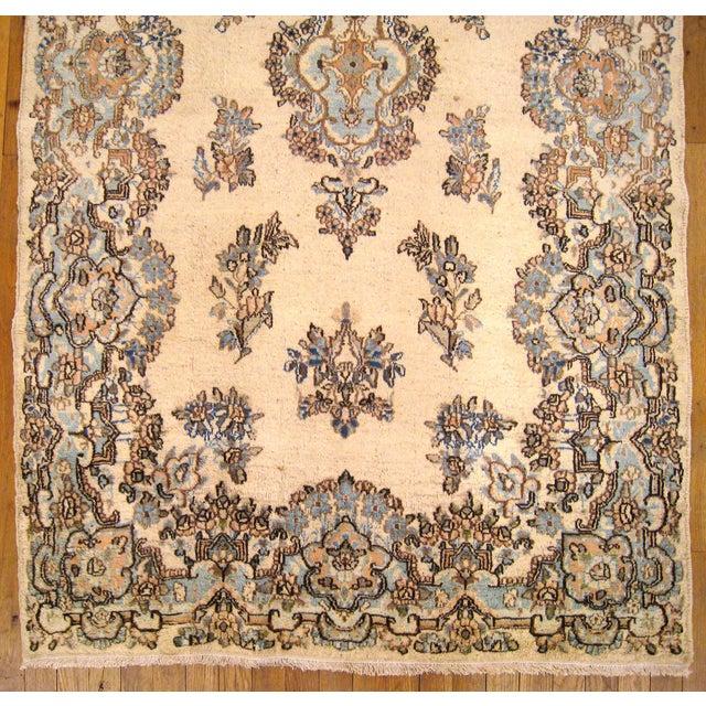 Islamic 1940s Vintage Persian Kerman Oriental Rug - 4′ × 6′4″ For Sale - Image 3 of 5