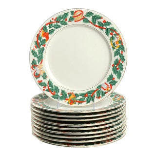 Royal Majestic Christmas Eve Dinner Plate Set of 10 For Sale