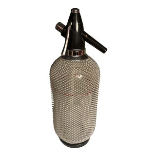 1970s Modern Soda Spritzer With Chrome Netting For Sale