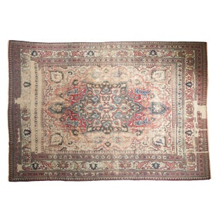 "Antique Distressed Khorassan Carpet - 9'8"" X 13'7"""