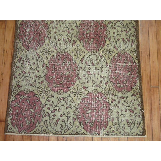Islamic Distressed Vintage Turkish Runner For Sale - Image 3 of 5