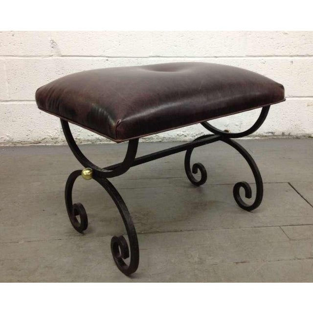 French French Wrought Iron Bench For Sale - Image 3 of 3