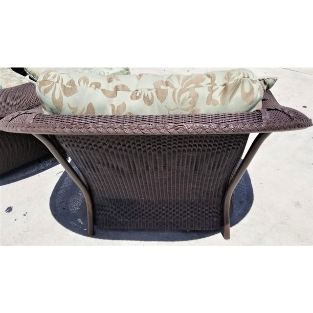 Lloyd Flanders Loom Wicker Weather Resistant Oversized 1.5 Lounge Chair With Custom Cushions (This listing and price are...