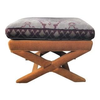 Vintage Upholstered X Bench/Stool