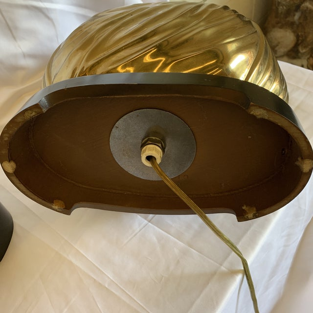 """Chapman Brass """"Sacks of Gold"""" Ribbon Table Lamps - a Pair For Sale - Image 11 of 13"""