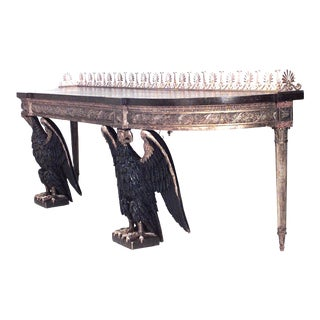 19th Century Georgian Style Double Eagle Base Console Table For Sale