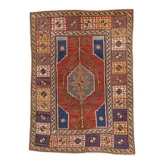Vintage Turkish Oushak Rug with Modern Tribal Style