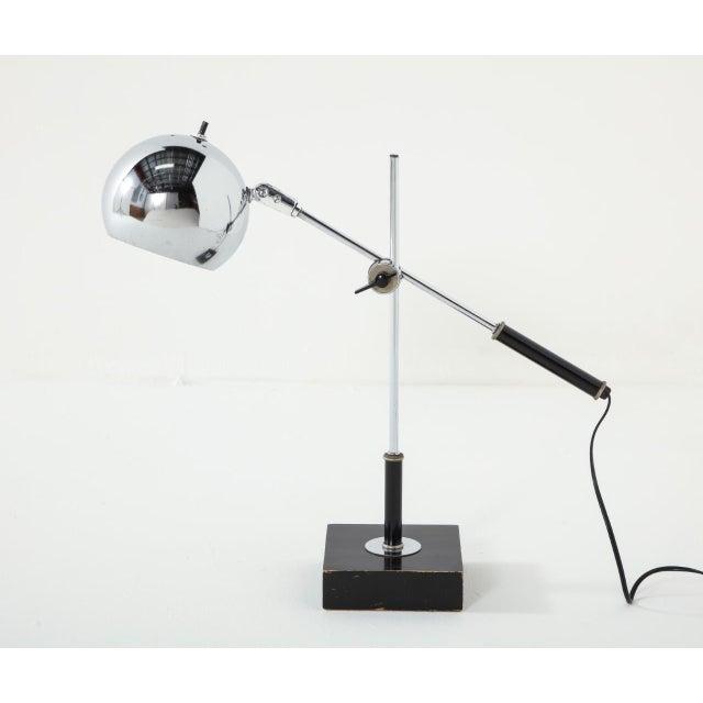 Chrome Midcentury Adjustable Desk Lamp For Sale - Image 13 of 13