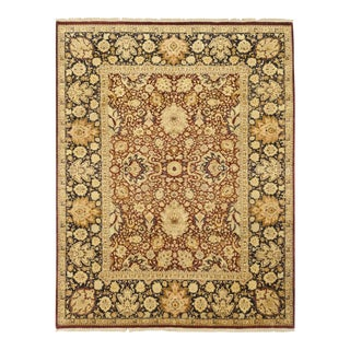 One-Of-A-Kind Traditional Hand-Knotted Area Rug, Brown, 9' 2 X 12' 1 For Sale