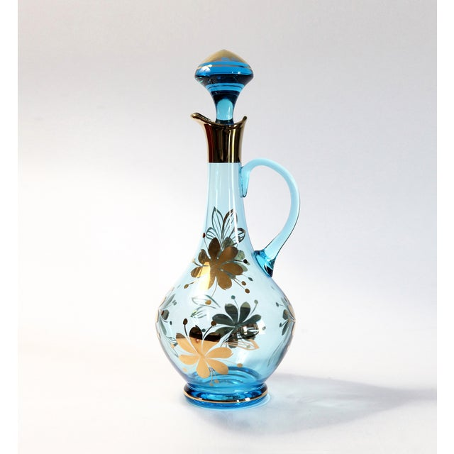 Blue Carafe With Glasses - Set of 9 - Image 3 of 6