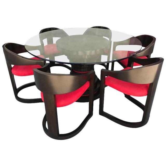 Karl Springer Style Dining Set For Sale