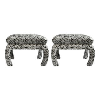 Edie Benches in Leopardo - a Pair For Sale