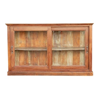 British Colonial Display Sideboard For Sale