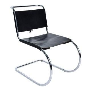 Knoll, Ludwig Mies Van Der Rohe, Mr Chair Tubular Chrome Leather Chair For Sale