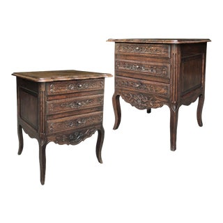 Antique Country French Provincial Commodes - a Pair For Sale