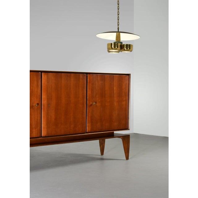 Lightolier Gerald Thurston Brass Ceiling Pendant Light for Lightolier, Circa 1950's For Sale - Image 4 of 6