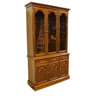 20th Century Traditional Stickley Furniture Solid Cherry China Cabinet