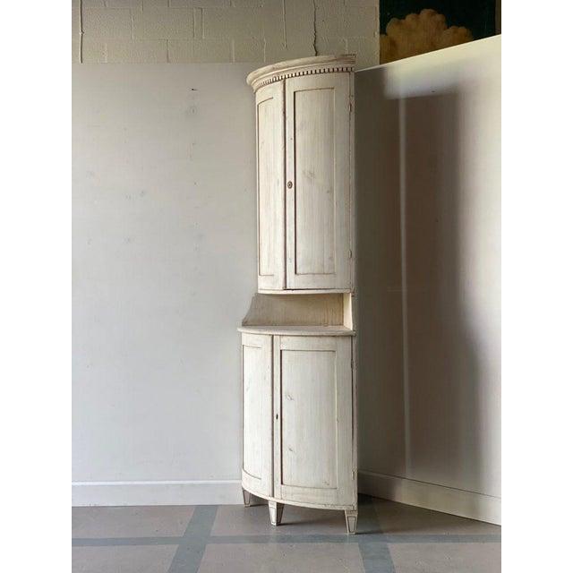 Antique Gustavian Corner Cabinet For Sale - Image 12 of 13