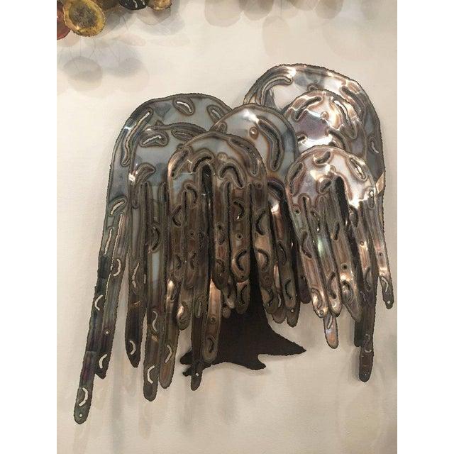 Vintage Brutalist Metal Weeping Willow Tree Wall Art | Chairish