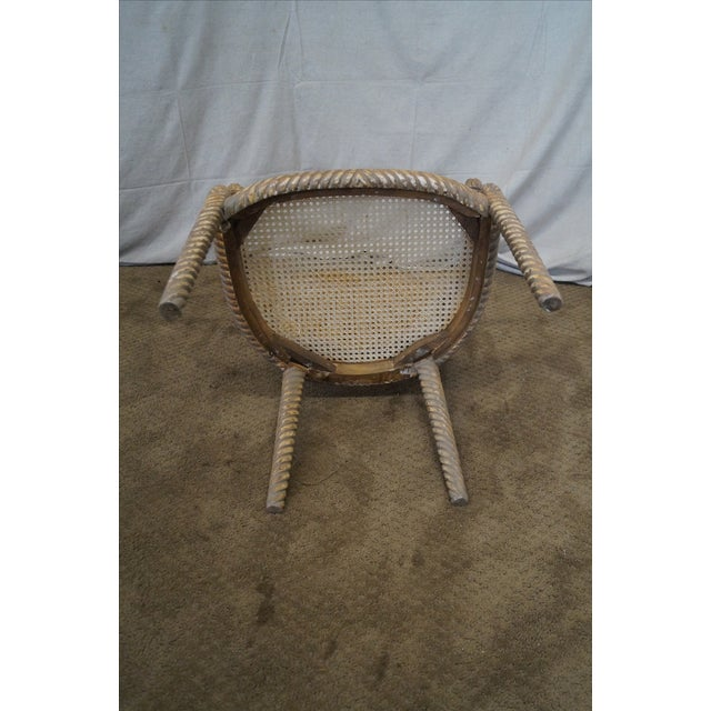 Hollywood Regency Gilt Painted Rope Turned Chair - Image 9 of 10