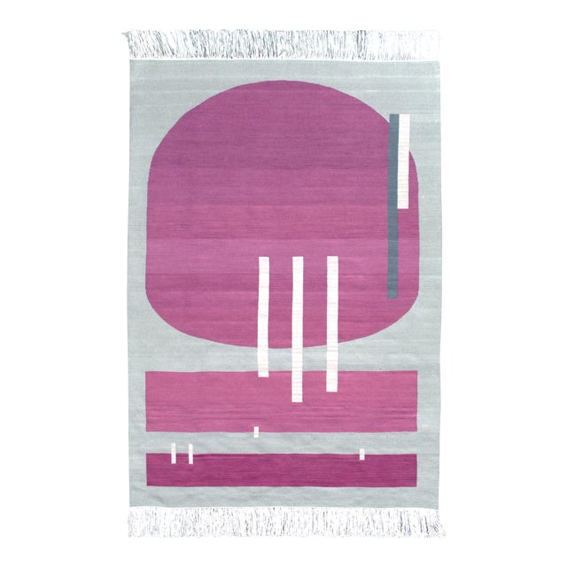Andrew Boos Handwoven Wool Rug For Sale
