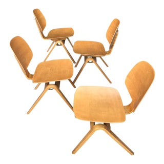 Vintage Joe Atkinson for Thonet Mid Century Dining Chairs - Set of 4 For Sale