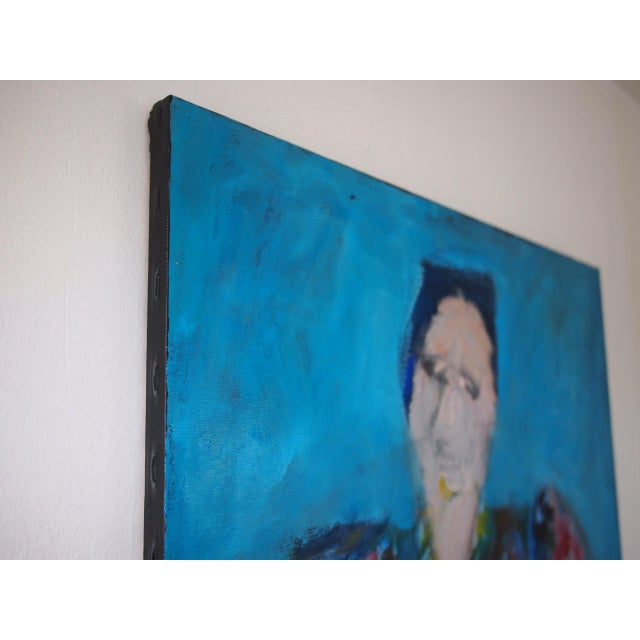 Canvas Original Charles Li Hidley Abstract Expressionist Lady Portrait Oil on Canvas Painting For Sale - Image 7 of 9