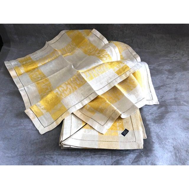 Vintage Damask Linen Napkins - Set of 12 For Sale - Image 10 of 13