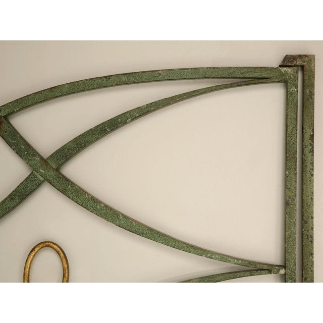 French Country Original Vintage French Iron and Steel Gates/Fire Screens - a pair For Sale - Image 3 of 10