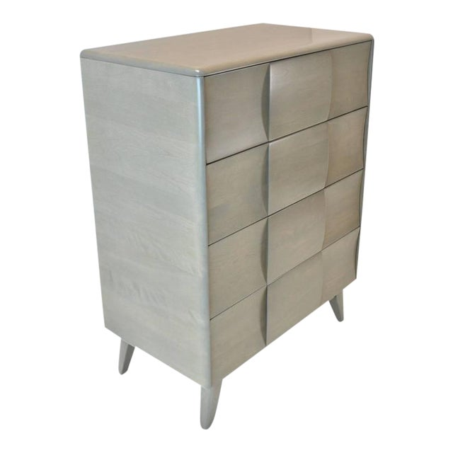Heywood Wakefield Block Front Chest of Drawers For Sale