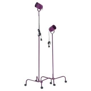 Pair of Verner Panton Adjustable Height, Rolling Panto Beam Floor Lamps For Sale