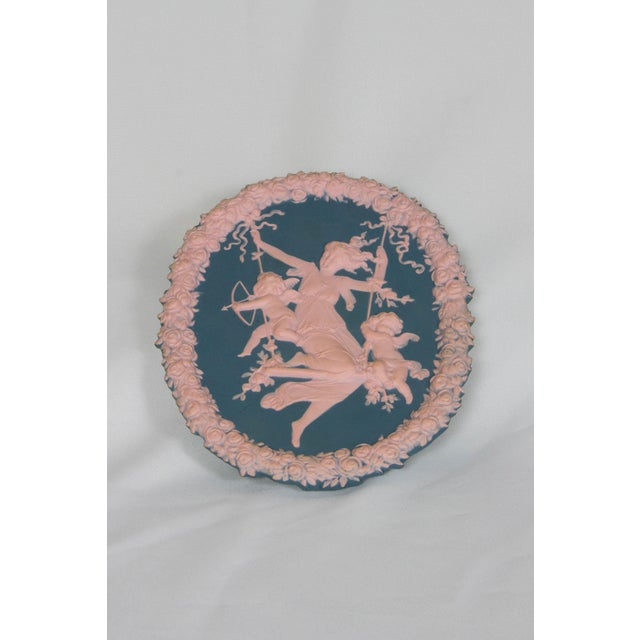 Traditional Blue and Pink Jasperware Plaque For Sale In Boston - Image 6 of 6