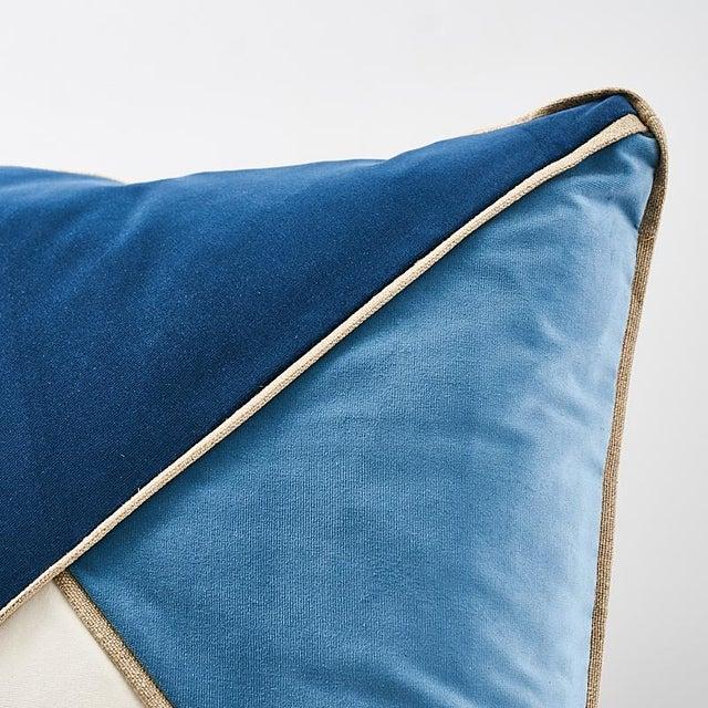 Schumacher Schumacher Gainsborough Velvet Pillow For Sale - Image 4 of 5