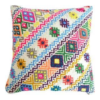 Hand Woven Pillow Cover Jajim Pattern 1. Class Cotton Pillow - 16″ X 16″ For Sale