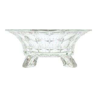 Footed Star & Thumbprint Centerpiece Bowl For Sale