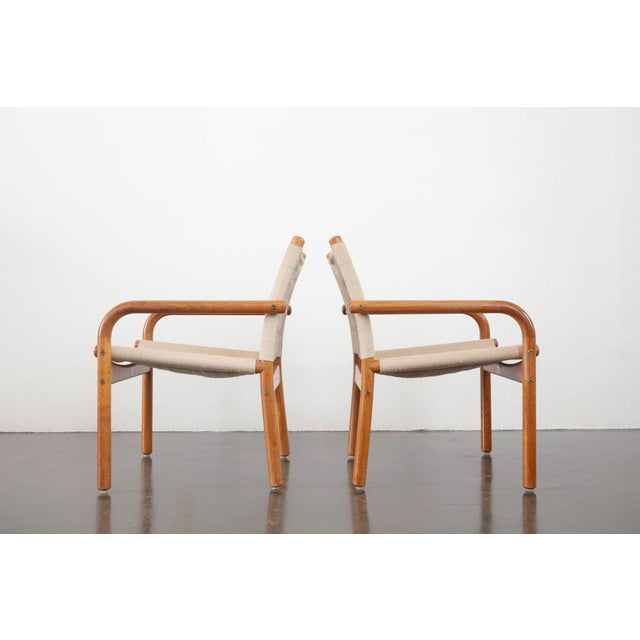 Bernstorffsminde Møbelfabrik Mid-Century Danish Safari Chairs - A Pair For Sale - Image 4 of 13