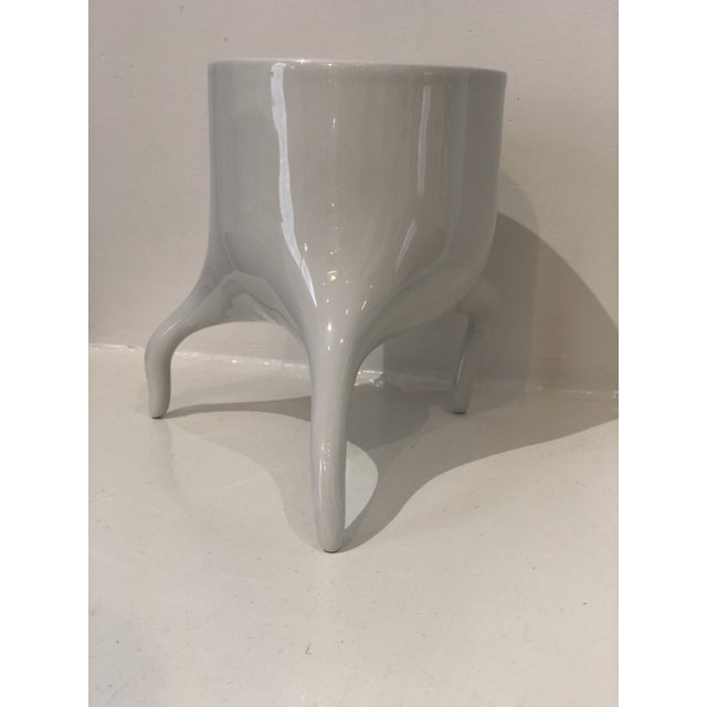 2010s Carnivora Large Porcelain Planter For Sale - Image 5 of 8