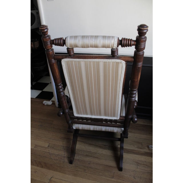 Traditional Antique Eastlake Slider Rocking Chair For Sale - Image 3 of 5