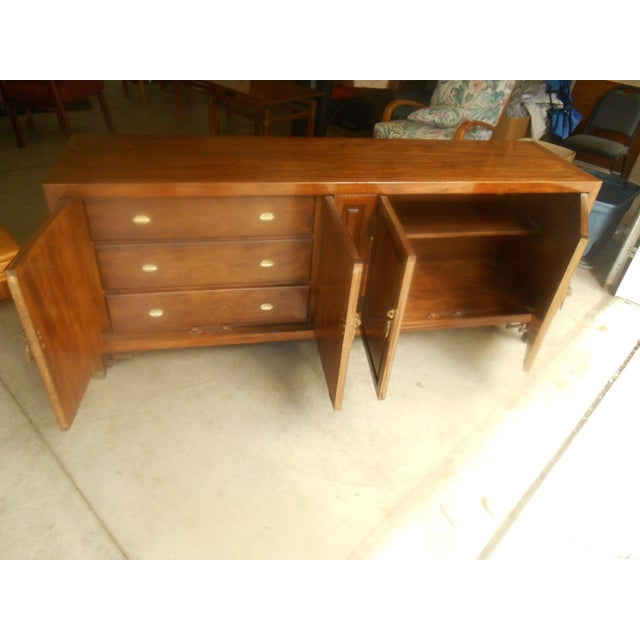 Mid-Century Maple and Brass Credenza by Century - Image 5 of 10