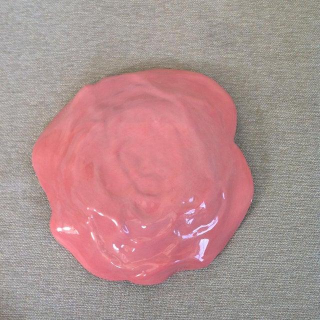 Vintage Rose Flower Dish For Sale - Image 4 of 7